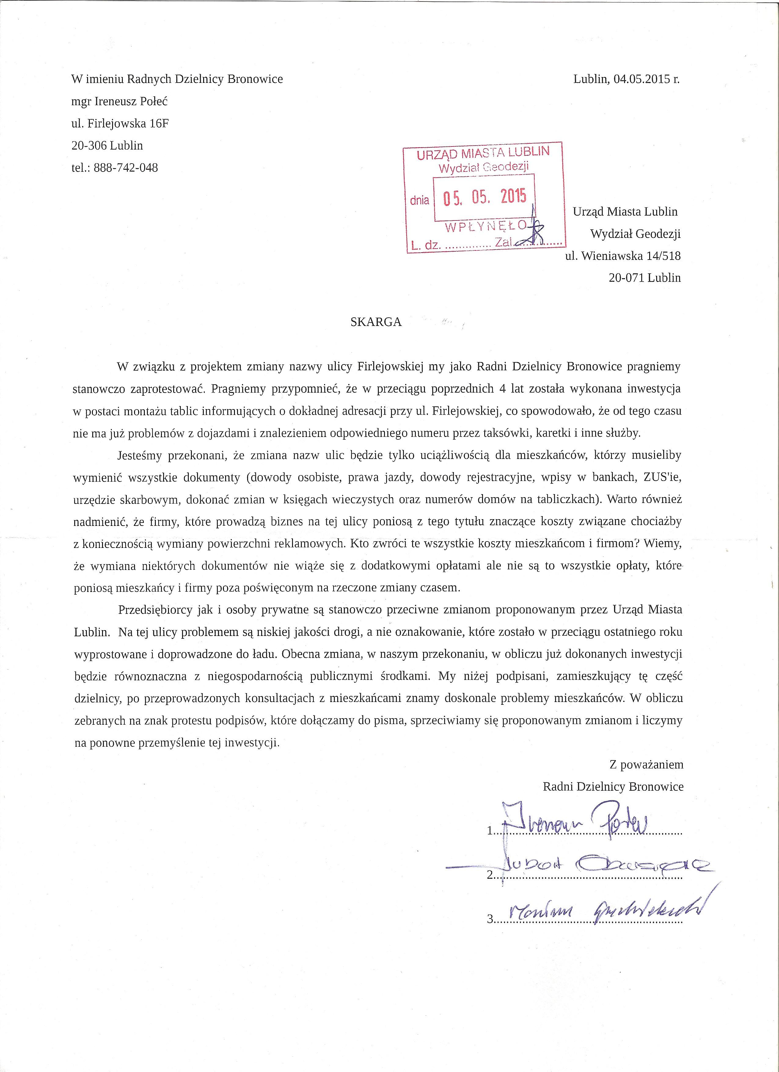 zmiana_nazwy_ul_firlejowskiej_pismo_do_urzedu