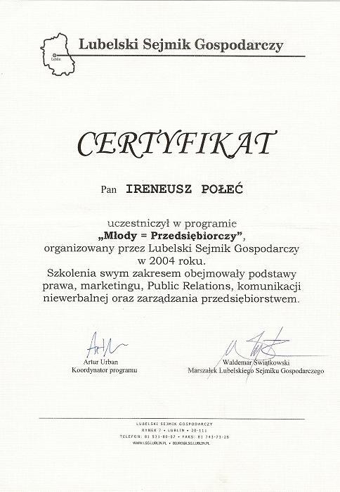 Certyfikat M3ody