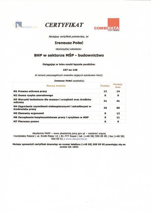 BHP w sektorze MOP - budownictwo