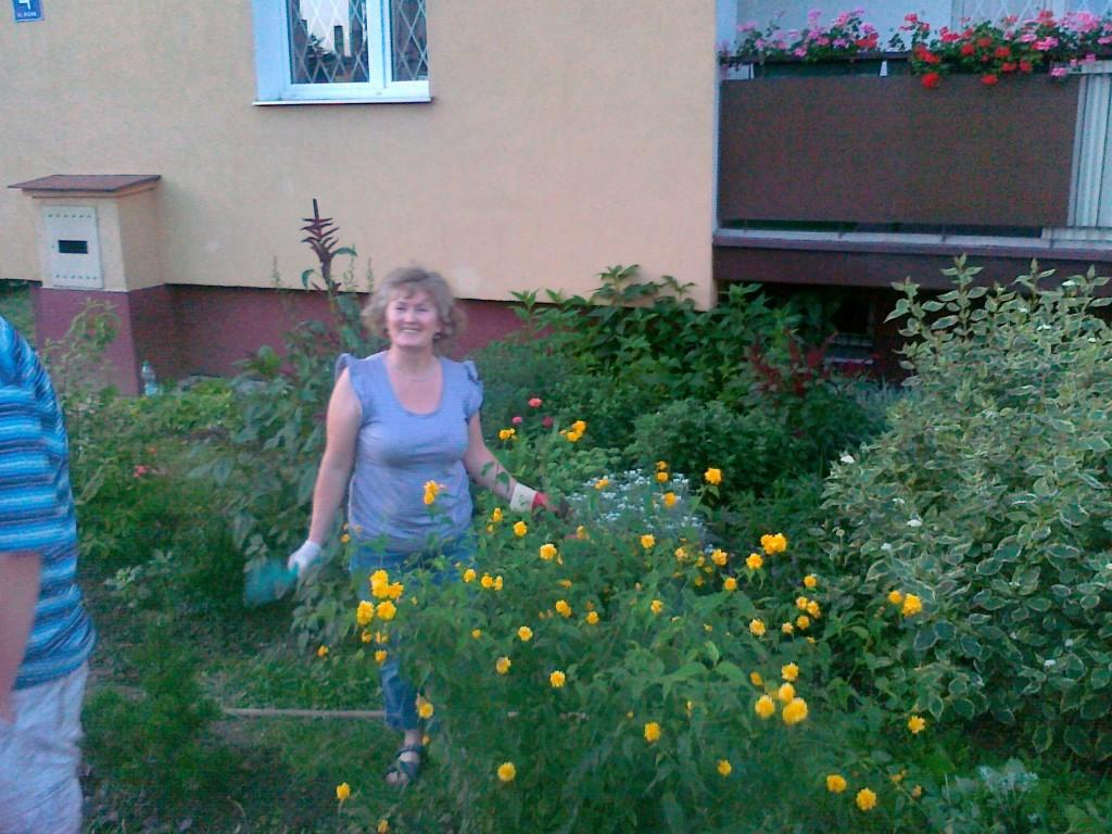 Ewa Gąsior i ogród