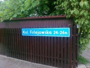 Tablica ul. Firlejowska