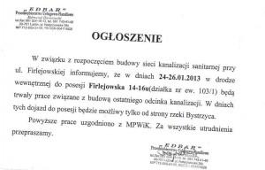 Ogloszenie ul. Firlejowska Lublin