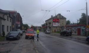 Remont ul. Łęczyńskiej - Usunięcie trakcji trolejbusowej