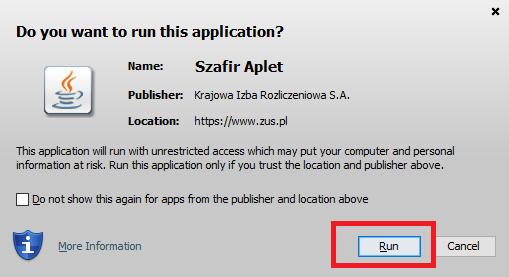 Uruchomienie apletu Java
