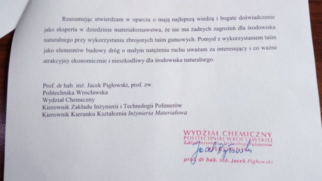 Opinia prof. dr. hab. inż. Jacka Pigłowskiego