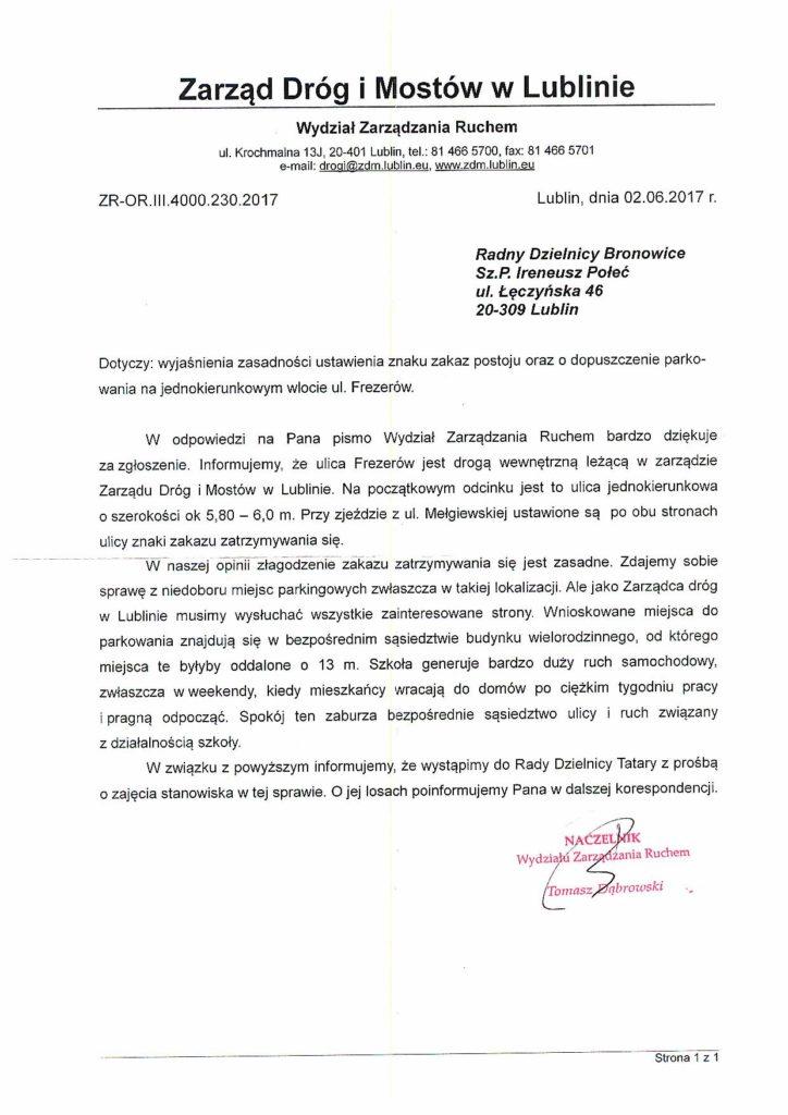 Frazerow Lublin Znak Zakaz Zatrzymywania Się