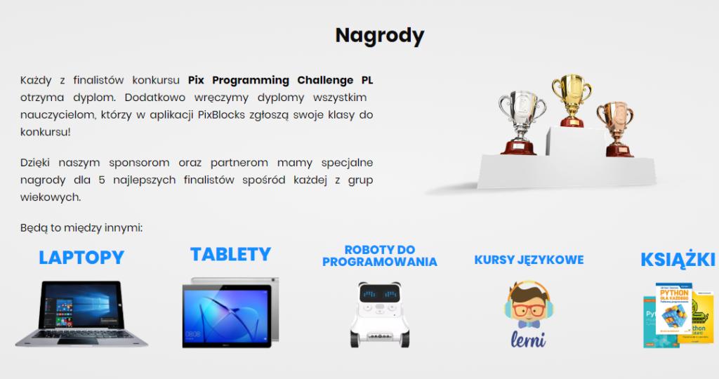 Nagrody w konkursie Pix Blocks